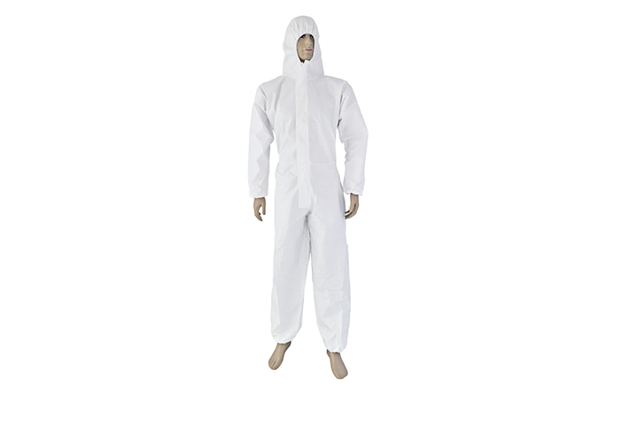 BREATHABLE MICROPOROUS COVERALL WITH HOOD