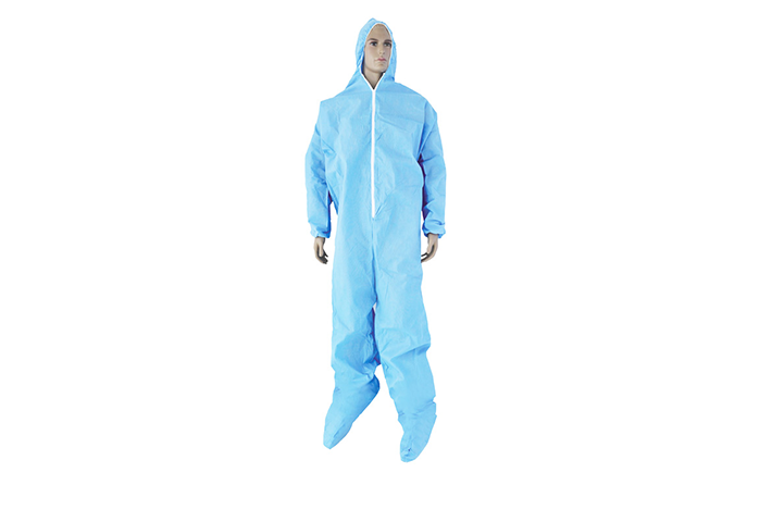 SMS COVERALL WITH HOOD AND WITH BOOTS