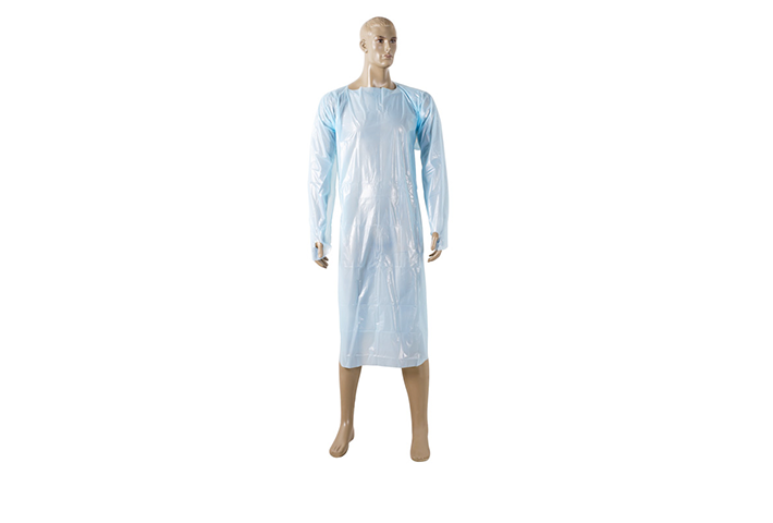 CPE GOWN WITH THUMB LOOP